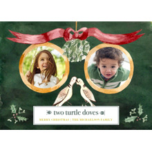 Christmas Photo Cards 5x7 Cards, Premium Cardstock 120lb with Elegant Corners, Card & Stationery -Two Turtle Doves