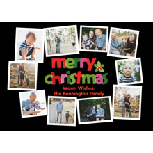 Christmas Photo Cards 5x7 Cards, Premium Cardstock 120lb with Elegant Corners, Card & Stationery -Christmas Snapshots Circle