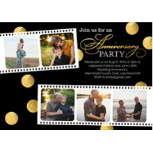 Anniversary Invitations 5x7 Cards, Premium Cardstock 120lb, Card & Stationery -Anniversary Party Photo Film Strip