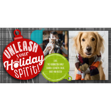 Christmas Photo Cards 4x8 Flat Card Set, 85lb, Card & Stationery -Unleash Your Holiday Spirit