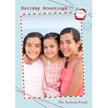 Christmas Photo Cards 5x7 Cards, Premium Cardstock 120lb with Elegant Corners, Card & Stationery -Holiday Greetings Santa Stamp