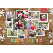 Christmas Photo Cards 5x7 Cards, Premium Cardstock 120lb with Rounded Corners, Card & Stationery -Christmas 2018 Snowflakes Collage by Tumbalina