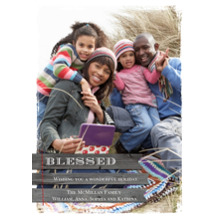 Christmas Photo Cards 5x7 Cards, Premium Cardstock 120lb with Rounded Corners, Card & Stationery -Rustic Blessed