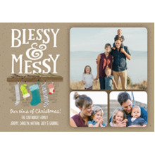 Christmas Photo Cards 5x7 Cards, Premium Cardstock 120lb with Scalloped Corners, Card & Stationery -Blessy & Messy
