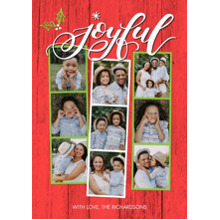 Christmas Photo Cards 5x7 Cards, Premium Cardstock 120lb with Elegant Corners, Card & Stationery -Christmas Joyful Snapshots by Tumbalina
