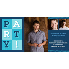 Birthday Party Invites 4x8 Flat Card Set, 85lb, Card & Stationery -Party Grid