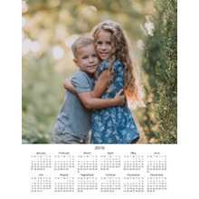 Calendar 11x14 Poster, Home Decor -2019 Calendar - Single Photo