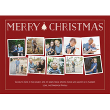 Christmas Photo Cards 5x7 Cards, Premium Cardstock 120lb with Elegant Corners, Card & Stationery -Simple Christmas Tidings