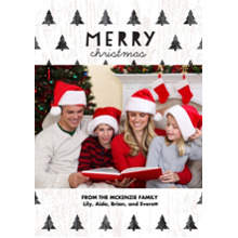 Christmas Photo Cards 5x7 Cards, Premium Cardstock 120lb with Rounded Corners, Card & Stationery -Forest of Christmas Trees