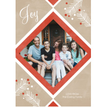 Christmas Photo Cards 5x7 Cards, Premium Cardstock 120lb with Rounded Corners, Card & Stationery -Joy