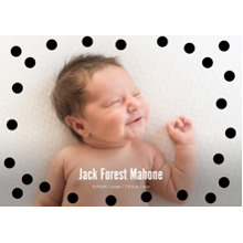 Baby Announcements Set of 20, Premium 5x7 Foil Card, Card & Stationery -Big Dots Border