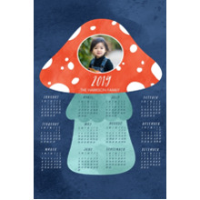 Calendar 12x18 Peel, Stick & Reuse, Home Decor -Amantia Muscaria