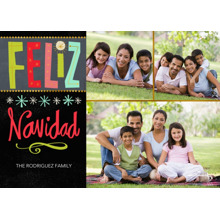 Christmas Photo Cards 5x7 Cards, Premium Cardstock 120lb with Rounded Corners, Card & Stationery -Bright Feliz Navidad