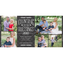 Christmas Photo Cards 4x8 Flat Card Set, 85lb, Card & Stationery -Counting Our Blessings 2018