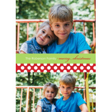Christmas Photo Cards 5x7 Cards, Premium Cardstock 120lb with Rounded Corners, Card & Stationery -Posh Paper Merry Polkadot