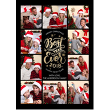 Christmas Photo Cards 5x7 Cards, Premium Cardstock 120lb with Scalloped Corners, Card & Stationery -2018 Best Year Ever by Tumbalina