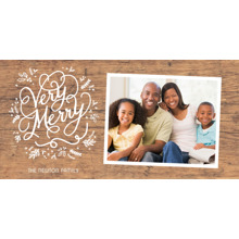 Christmas Photo Cards 4x8 Flat Card Set, 85lb, Card & Stationery -Christmas Very Merry