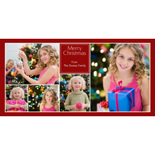 Christmas Photo Cards 4x8 Flat Card Set, 85lb, Card & Stationery -Collage Merry Christmas