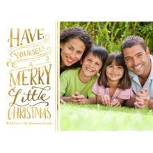 Christmas Photo Cards 5x7 Cards, Premium Cardstock 120lb with Elegant Corners, Card & Stationery -Christmas Merry Little 1 Photo