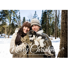 Christmas Photo Cards 5x7 Cards, Premium Cardstock 120lb with Elegant Corners, Card & Stationery -Script Merry Christmas