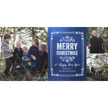 Christmas Photo Cards 4x8 Flat Card Set, 85lb, Card & Stationery -Christmas Chalky Frame