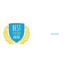 Personalized 11 oz. Light Blue Mug, Gift -Best Teacher Award
