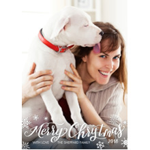 Christmas Photo Cards 5x7 Cards, Premium Cardstock 120lb with Scalloped Corners, Card & Stationery -2018 Merry Christmas by Tumbalina