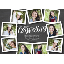 2019 Graduation Announcements 5x7 Cards, Premium Cardstock 120lb with Scalloped Corners, Card & Stationery -2019 Collage Snapshots by Tumbalina