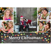 Christmas Photo Cards 5x7 Cards, Premium Cardstock 120lb with Scalloped Corners, Card & Stationery -Christmas Lights