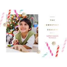 Christmas Photo Cards 5x7 Cards, Premium Cardstock 120lb with Elegant Corners, Card & Stationery -Candy Christmas