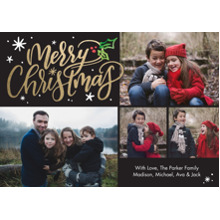 Christmas Photo Cards 5x7 Cards, Premium Cardstock 120lb with Rounded Corners, Card & Stationery -Christmas Holly Script by Tumbalina