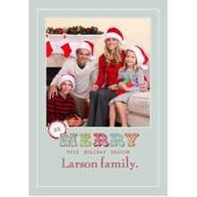 Christmas Photo Cards 5x7 Cards, Premium Cardstock 120lb with Rounded Corners, Card & Stationery -Merry Holiday