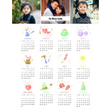 Calendar 11x14 Poster, Home Decor -A Year Of Celebrations