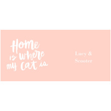 Pets 11 oz. Pink Mug, Gift -Home Cat