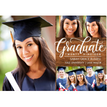 2019 Graduation Announcements 5x7 Cards, Premium Cardstock 120lb with Rounded Corners, Card & Stationery -Graduate Twenty Nineteen Script by Tumbalina