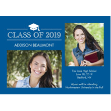2019 Graduation Announcements 5x7 Cards, Premium Cardstock 120lb with Rounded Corners, Card & Stationery -Graduation Class of 2019 by Tumbalina