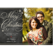 Christmas Photo Cards 5x7 Cards, Premium Cardstock 120lb with Rounded Corners, Card & Stationery -Chalkboard Merry Christmas