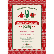 Christmas Party Invitations 5x7 Folded Cards, Standard Cardstock 85lb, Card & Stationery -Ugly Sweater Party Invitation