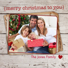 Christmas Photo Cards 5x5 Flat Card Set, 85lb, Card & Stationery -Merry Christmas to You