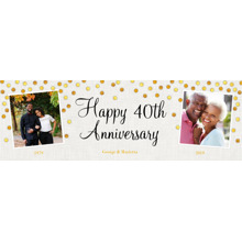Anniversary Photo Banner 2x6, Home Decor -Gold Anniversary