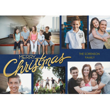 Christmas Photo Cards 5x7 Cards, Premium Cardstock 120lb with Elegant Corners, Card & Stationery -Scripted Christmas