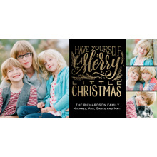 Christmas Photo Cards 4x8 Flat Card Set, 85lb, Card & Stationery -Christmas Merry Little Holiday