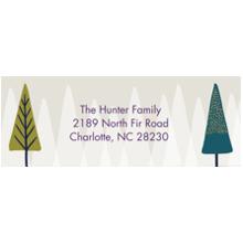 Christmas Address Labels, Card & Stationery -Christmas Brushstrokes