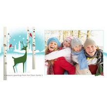 Christmas Photo Cards 4x8 Flat Card Set, 85lb, Card & Stationery -Reindeer Holiday