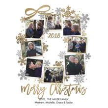 Christmas Photo Cards 5x7 Cards, Premium Cardstock 120lb with Rounded Corners, Card & Stationery -Christmas 2018 Snapshots Wreath by Tumbalina