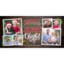 Christmas Photo Cards 4x8 Flat Card Set, 85lb, Card & Stationery -Christmas Merry Bright