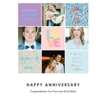 Anniversary Invitations Flat Glossy Photo Paper Cards with Envelopes, 5x7, Card & Stationery -Lets Celebrate Love