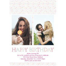 Birthday Party Invites 5x7 Cards, Premium Cardstock 120lb with Elegant Corners, Card & Stationery -Happy Birthday Pattern Woman
