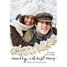 Christmas Photo Cards 5x7 Cards, Premium Cardstock 120lb with Rounded Corners, Card & Stationery -Christmas Sweeping Branches