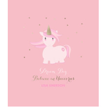 Baby + Kids Framed Canvas Print, Black, 8x10, Home Decor -Unicorn Magic
